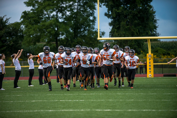 Warsaw at Perry HS Football 2014