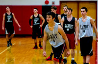 Le Roy Boys Basketball Practice 2013