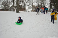 Sledding in Centennial Park Dec 27 2012